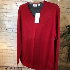 Calvin Klein Men's L v-neck sweater NWT